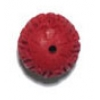 Imt Cinnabar 12mm Round Fancy Bead Red